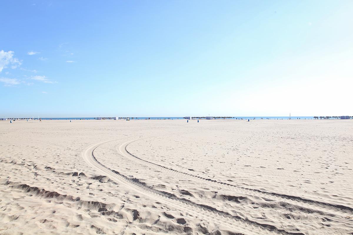 Hotspots van Valencia strand