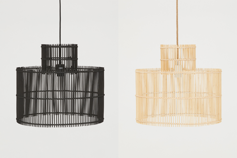 H&M meubelcollectie Bamboe plafondlamp